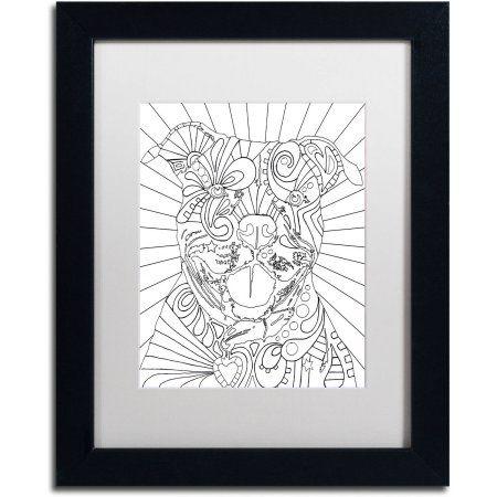 Trademark Fine Art Beware CB Canvas Art by Dean Russo, White Matte ...