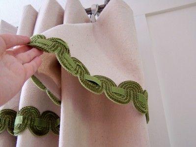 Easy tutorial no sew drop cloth curtains.