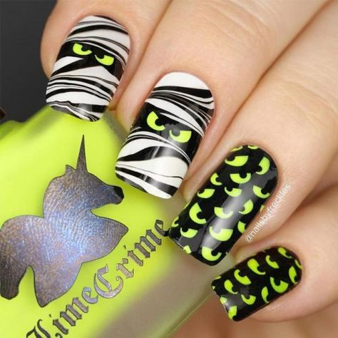 66 Best Creepy Halloween Nail Designs - chic better