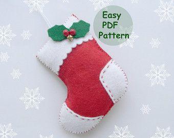Set Pdf Pattern Christmas Ornaments Pattern Felt Star Mitten