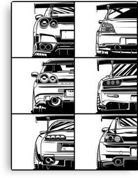 Jdm Legends Canvas Print By Olegmarkaryan Jdm Wallpaper Custom Cars Jdm Cars