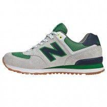 New Balance ML574YCG Yacht Club lovers Grey Navy Green men shoes [cUu0w]
