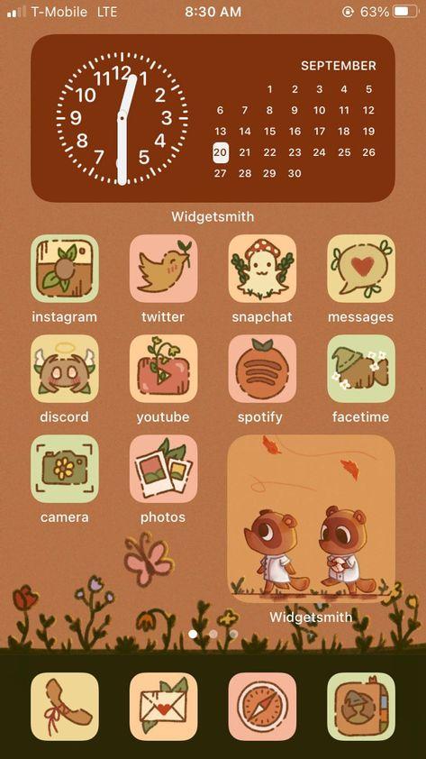 BUNDLE Cottagecore / Fall Aesthetic iPhone iOS 14 App Icons | Etsy