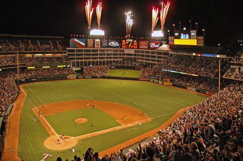 And The People Go Wild Baseball Stadium Texas Rangers Ballpark Mlb Stadiums