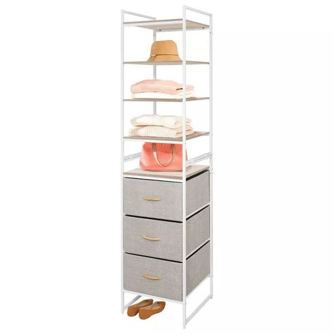 Mdesign Vertical Closet Furniture Storage Unit 3 Drawers 5