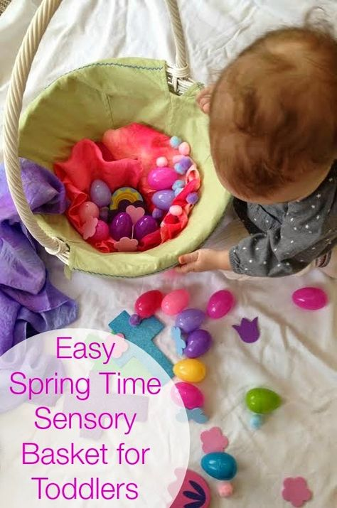 Spring Time Sensory Basket for Toddlers