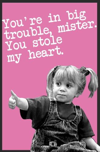 Michelle Tanner - Full House Valentines || Free PDF Printables Available