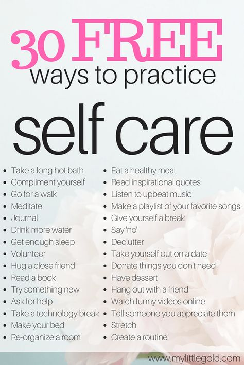 huge list of free self care ideas to take care of yourself #BeautySecretsAndTips