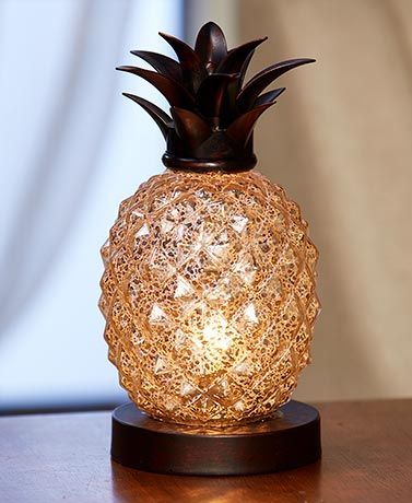 74202 1267738 Pe7 Mn Pineapple Lamp Elegant Home Decor Pineapple Glass
