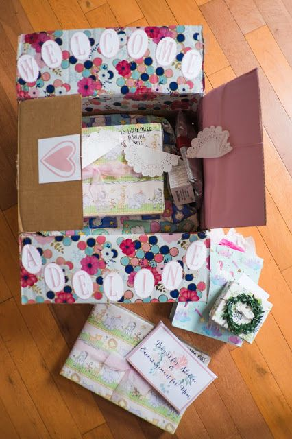 Baby Shower In A Box A Long Distance Baby Shower Baby Shower Gift Box Baby Shower Gift Packages Baby Shower Box