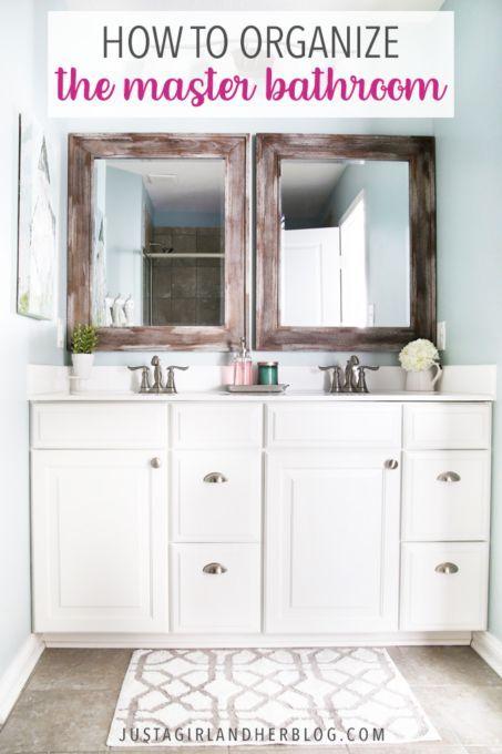 Master Bathroom Organization Ideas And Updates Easy Bathroom Organization Bathroom Vanity Organization Master Bathroom Vanity