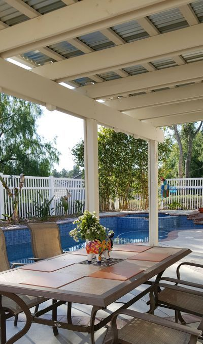Corrugated Iron Roof With Exposed Pergola Metal Patio Covers Backyard Patio