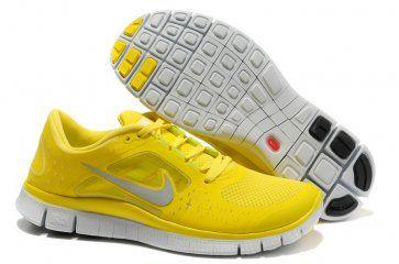 Nike Free Run 3 Womens Yellow 2013 Running Shoes (con ...