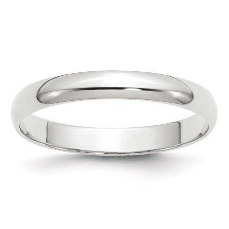 10k White Gold 8mm LTW Half Round Band Fine Jewelry Ideal Gifts For Women