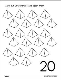 Number 20 Coloring Worksheet For Children Worksheets Writing Worksheets Printable Worksheets