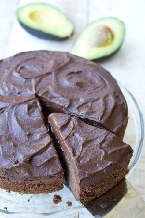 Sink Your Fork Into A Slice Of Fudgy Chocolate Avocado Cake Topped