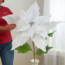 Oversized White Artificial Poinsettia Stem Picks Sprays Floral Supplies Craft Supplies Floral Supplies Poinsettia Holiday Floral