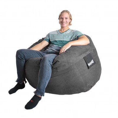 Ebern Designs Bean Bag Sofa Upholstery: Charcoal Grey, Size