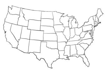 United States Clipart United States Map Flag Coloring Pages