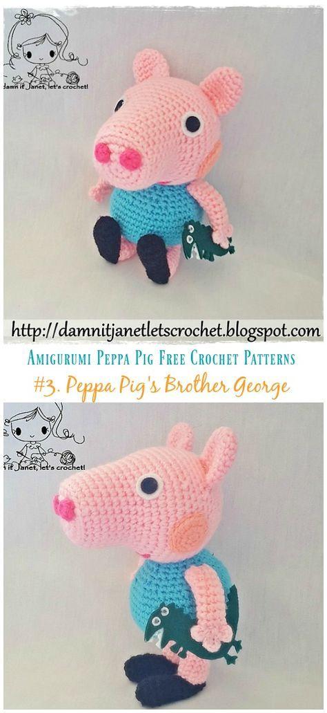 PEPPA PIG AMIGURUMI PATRÓN GRATIS - YouTube | 1031x474