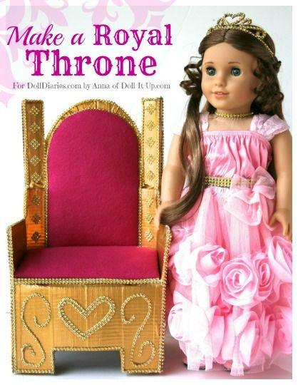 Camp Doll Diaries-Make a Royal Doll Throne