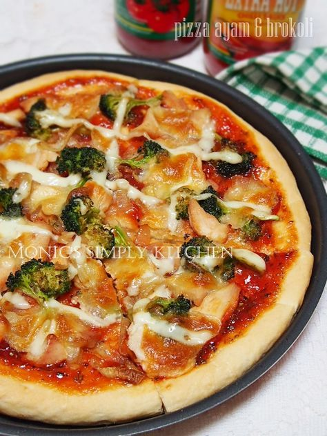 Pizza Ayam Brokoli Resep Makanan Makanan Dan Minuman Resep Masakan