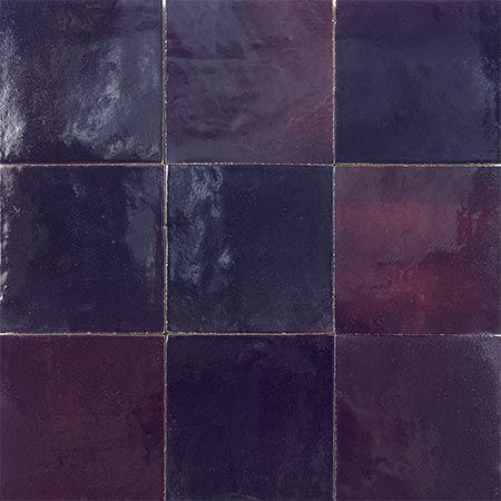 Marokkanische Zellige Fliesen 70 Perlmuttartige Farben 1079 Dunkles Aubergine Moroccan Tiles Tiles Mosaic Tiles
