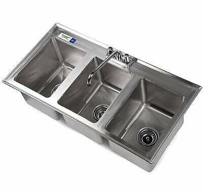 Ad Ebay Url 3 Compartment 37 X 19 Stainless Steel Kitchen Drop In Sink 10 X 14 X 10 Sta Drop In Sink Sink Sinks For Sale