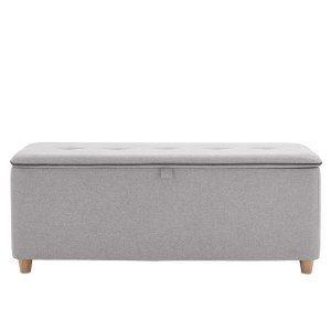 Magnificent Burcot Upholstered Storage Bench Contrast Grey Bedroom Gmtry Best Dining Table And Chair Ideas Images Gmtryco