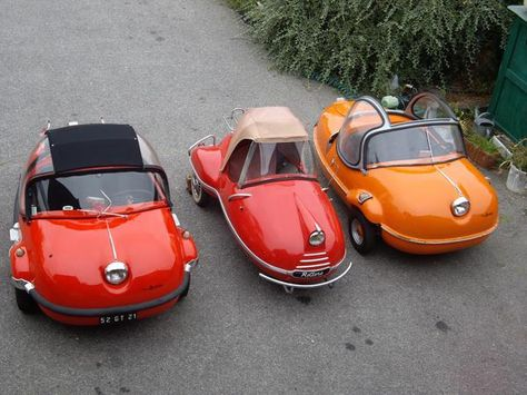 An assortment of Avolettes; The Société Air Tourist company, with its little factory at Paris in the rue de Ponthieu, began production of a small three-wheeled car in 1955. Production probably never progressed beyond the prototype stage and ended in 1958