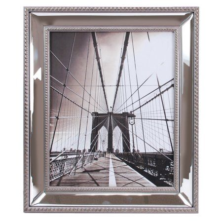 Enigma 8 In By 10 In Mirrored Picture Frame Silver Walmart Com Mirrored Picture Frames Silver Picture Frames Picture Frames