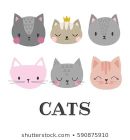 Cat Head Silhouette Images Stock Photos Vectors Shutterstock
