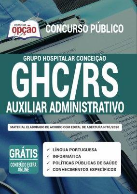Apostila Ghc Rs 2020 Auxiliar Administrativo Em 2020 Concursos