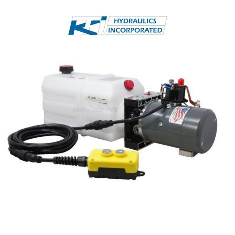 6 Quart 12v Kti Single Acting Hydraulic Pump Johnson Trailer Parts Hydraulic Pump Hydraulic Systems Hydraulic