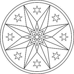 Mandala Malvorlage Weihnachtsstern Malvorlagen