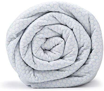 Amazon Com Blanquil Chill Cooling Weighted Blanket White Frost