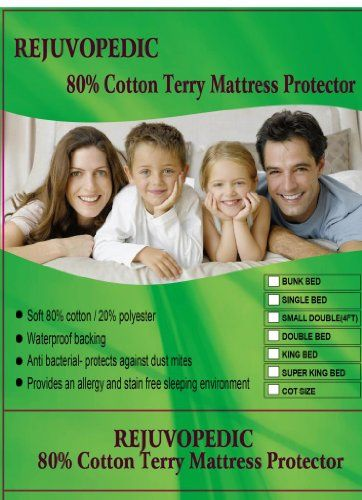 Waterproof Mattress Protector Terry Single 4Ft Small Double Bed Super King Sizes