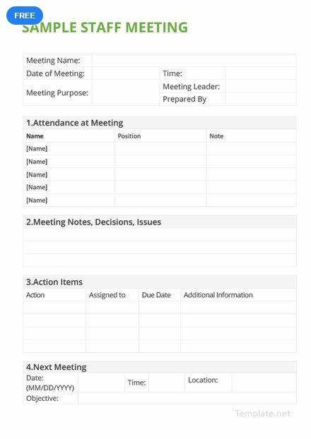 Free Sample Staff Meeting Minutes Staff Meetings Meeting Leader