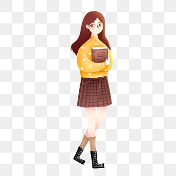 Cartoon Little Fresh Female Student Holding A Book Cartoon Small Fresh Illustration Png Transparent Clipart Image And Psd File For Free Download Student Cartoon Cartoon Clip Art