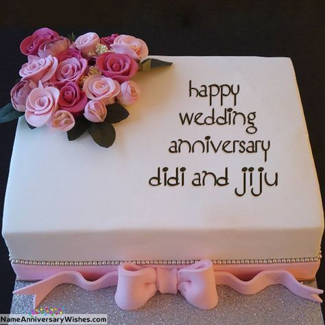 Names Picture Of Didi And Jiju Is Loading Please Wait Happy Anniversary Cakes Happy Marriage Anniversary Cake Wedding Cake With Name