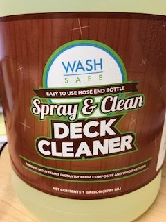 Spray Clean Composite Deck Cleaner Washing