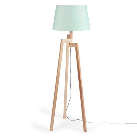 Lampadaire trépied Pastel en bois H 150 cm chez Maisons du Monde (125,90 euros)
