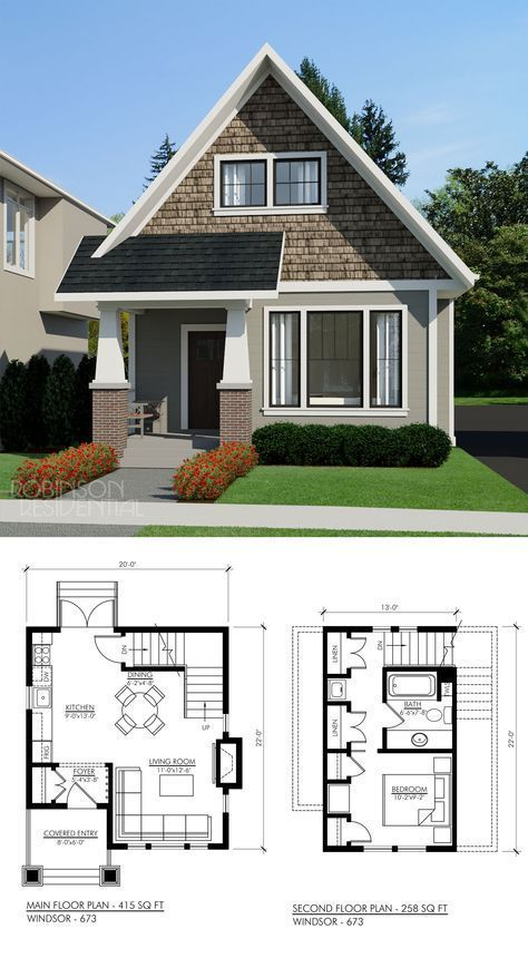 Craftsman Windsor 694 Sims House Plans Small House Design House Floor Plans Floor plans for a small home