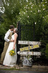 Rustic Wedding Signs. To meet the guests as they drive in.