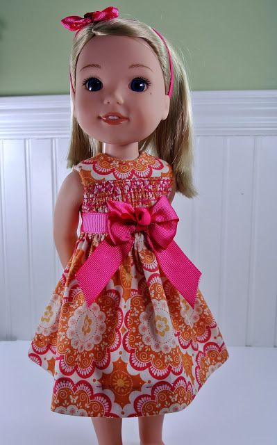 Garden Party Dress | Free Sewing Pattern | American Girl Wellie ...