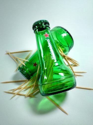 Kit Paliteiro E Saleiro De Garrafa Heineken Reciclados Com