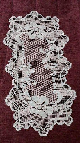 Hediye Omeroglu Filet Crochet Caminho De Mesa De Croche E