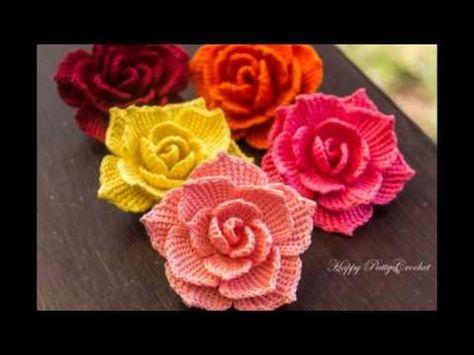 Flores tejidas a crochet sencillas youtube rosas y otras flores