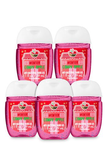 Winter Candy Apple Pocketbac Hand Sanitizers 5 Pack Bath Body