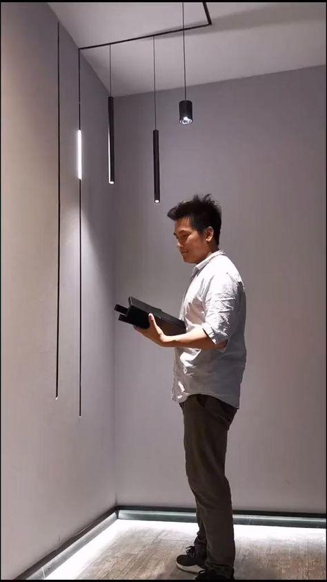 (MINI) New arrival MINI magnetic lamp series for track rails Home Room Design, Interior Design Living Room, Living Room Designs, Ceiling Light Design, Modern Lighting Design, Interior Lighting Design, Architectural Lighting Design, Blitz Design, Interior Architecture